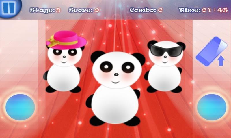 游戏中,有一群可爱的小熊猫在扭捏的跳舞.如果你的…全部介绍