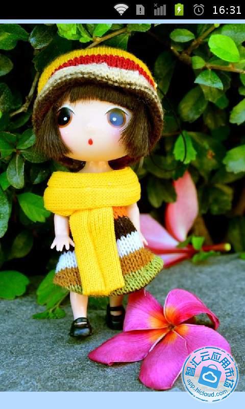 介绍 这是一款精美的3d娃娃动态锁屏壁纸集,内涵丰富的3d可爱小女孩