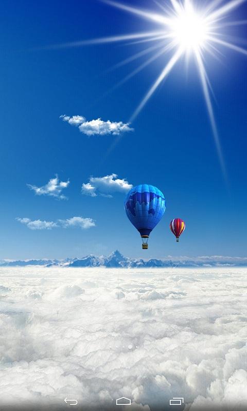 翱翔在碧蓝天空,在蓝天,白云及其他天空中飞翔的奇妙物体的伴同下,你