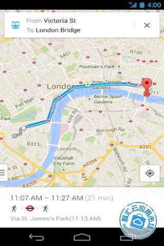 google地图目的地