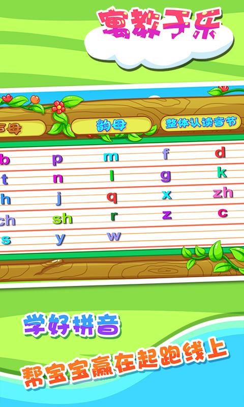 每个字母的写法)  5,字母表(可以方便查看所有声母,韵母及整体读音)图片