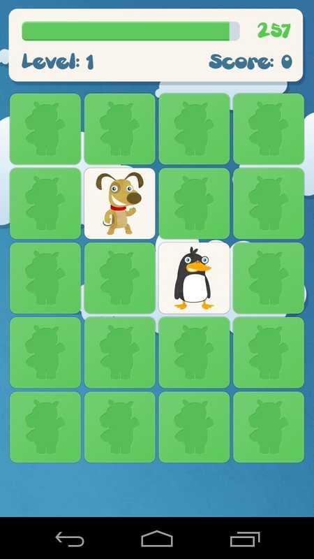 儿童记忆游戏:动物 截图 *记忆游戏,为孩子们:动物的经典儿童棋盘游戏