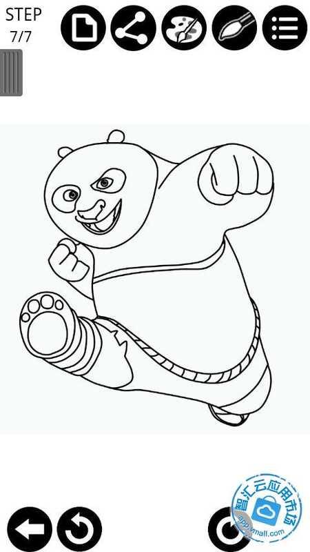 如何绘制功夫熊猫 截图 此应用程序可以教你如何画功夫熊猫一步一步.